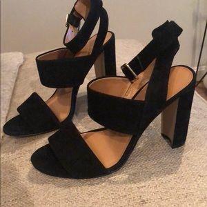J Crew block heels